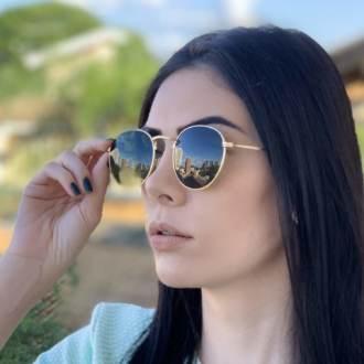 safine com br oculos de sol redondo dourado com verde laura 2 0 1