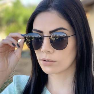 safine com br oculos de sol redondo preto laura 2 0 2