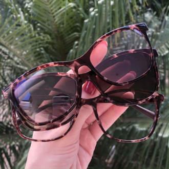 safine com br oculos de grau 3 em 1 retangular tartaruga anti blue