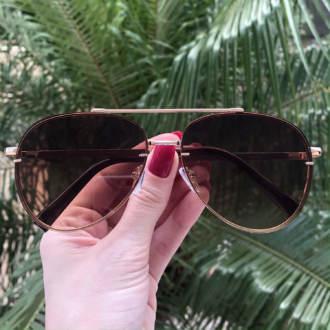 safine com br oculos de sol aviador marrom nanda