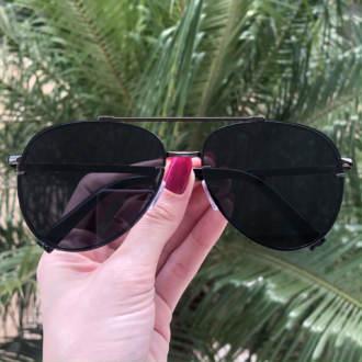 safine com br oculos de sol aviador preto nanda 3
