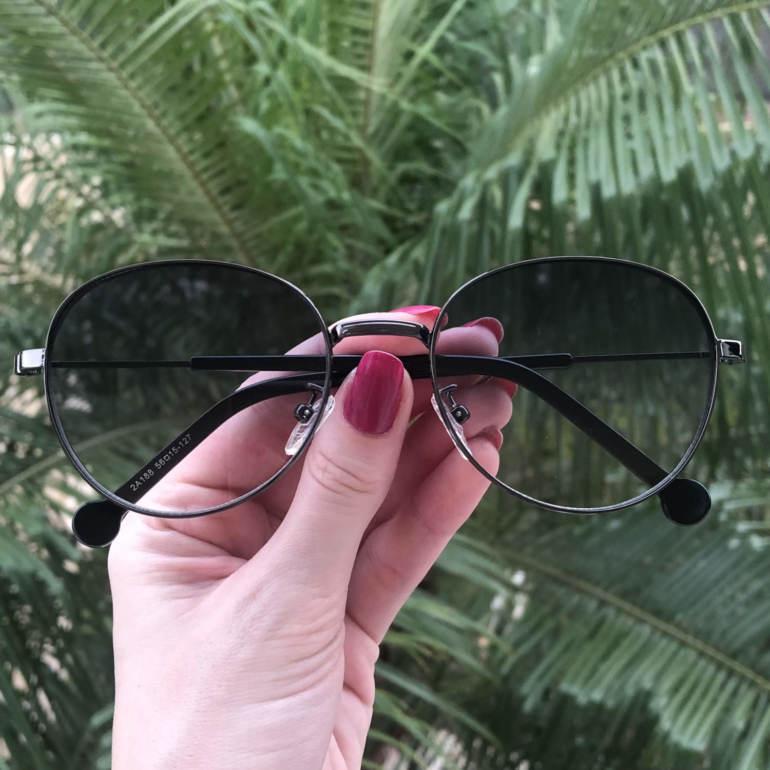 safine com br oculos de sol redondo grafite lari