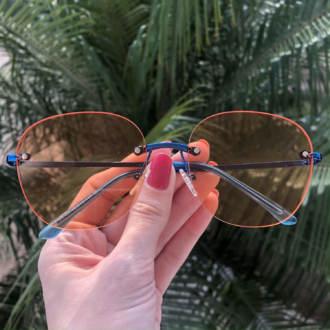 safine com br oculos de sol redondo laranja summer