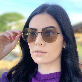 safine com br oculos de sol redondo marrom summer 2