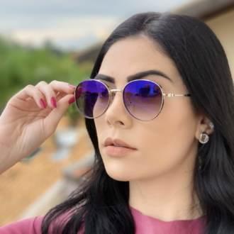 safine com br oculos de sol redondo prata lari