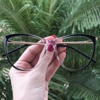 safine com br oculos de grau gatinho cinza doris