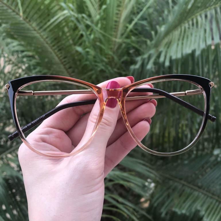 safine com br oculos de grau gatinho marrom doris