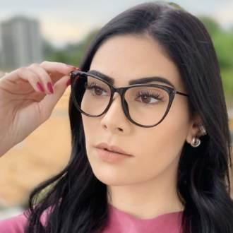 safine com br oculos de grau gatinho preto doris 2