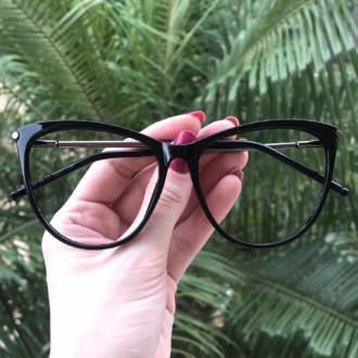 safine com br oculos de grau gatinho preto doris 3