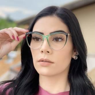 safine com br oculos de grau gatinho verde doris 1