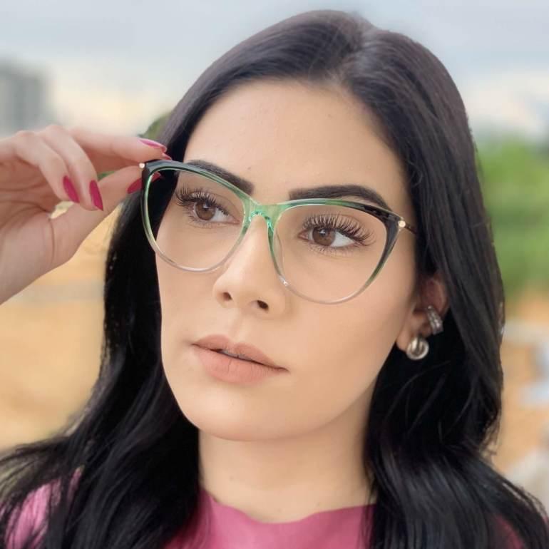 safine com br oculos de grau gatinho verde doris 2