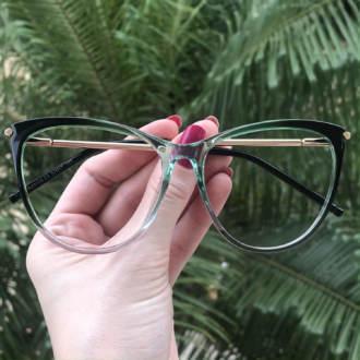 safine com br oculos de grau gatinho verde doris 3