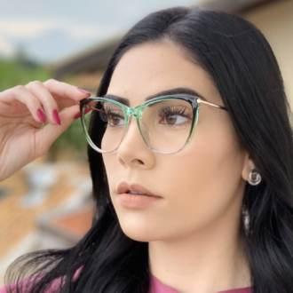 safine com br oculos de grau gatinho verde doris