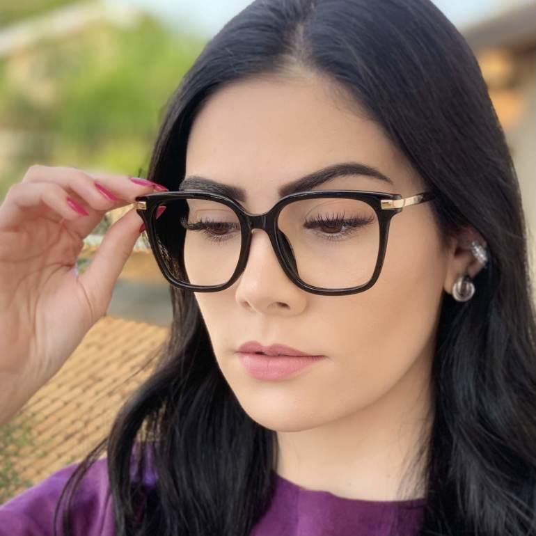 safine com br oculos de grau quadrado preto gabi 3
