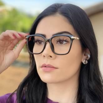 safine com br oculos de grau quadrado preto gabi 4