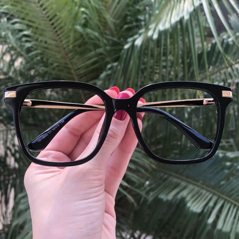 safine com br oculos de grau quadrado preto gabi