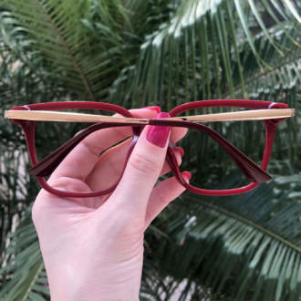 safine com br oculos de grau quadrado vermelho gabi 1