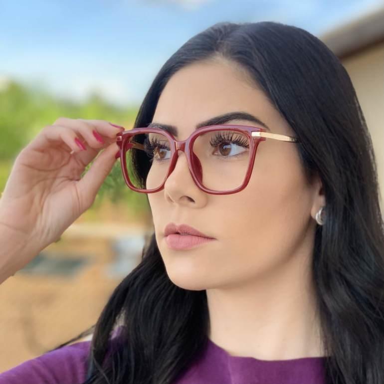 safine com br oculos de grau quadrado vermelho gabi 2