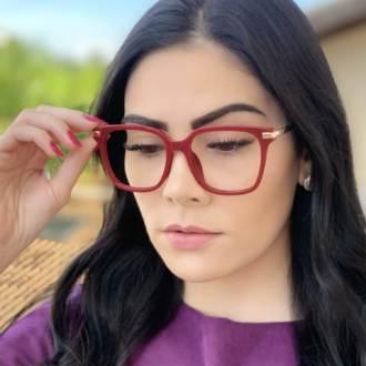 safine com br oculos de grau quadrado vermelho gabi 3