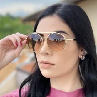 safine com br oculos de sol aviador marrom lana