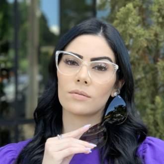 safine com br oculos 2 em 1 gatinho transparente com prata mia 2