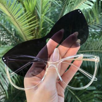 safine com br oculos 2 em 1 gatinho transparente com prata mia 3