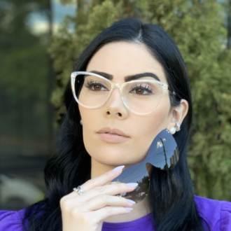 safine com br oculos 2 em 1 gatinho transparente com rose mia