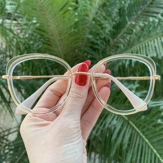 safine com br oculos de grau gatinho transparente cris 3