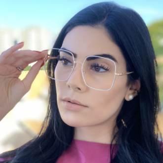 safine com br oculos de grau quadrado branco lauren 4