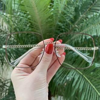 safine com br oculos de grau quadrado marrom lauren