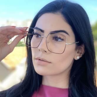 safine com br oculos de grau quadrado marrom lauren 4