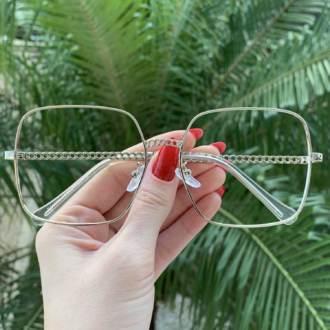 safine com br oculos de grau quadrado prata lauren 3