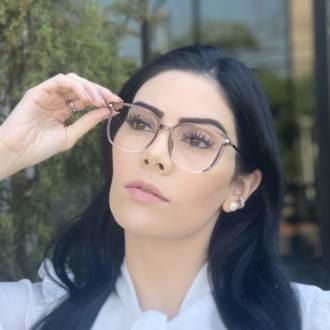 safine com br oculos de grau retangular cinza lulu 3