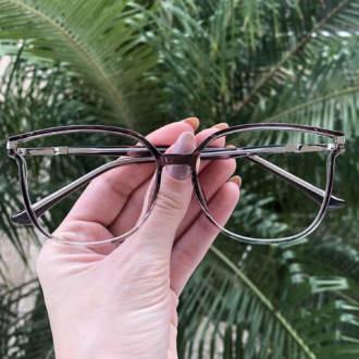 safine com br oculos de grau retangular cinza lulu