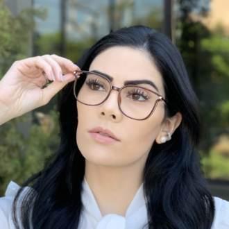 safine com br oculos de grau retangular marrom lulu 1