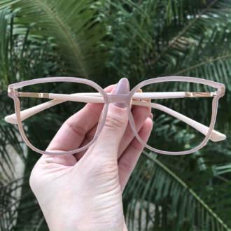 safine com br oculos de grau retangular nude lulu