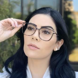 safine com br oculos de grau retangular tartaruga lulu