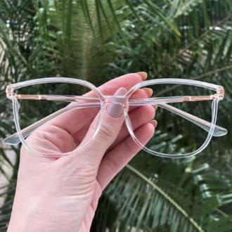 safine com br oculos de grau retangular transparente lulu